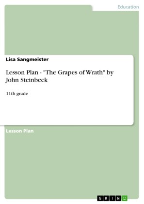 Lesson Plan - 'The Grapes of Wrath' by John Steinbeck