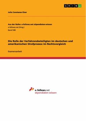 Die Rolle der Verfahrensbeteiligten im deutschen und amerikanischen Strafprozess im Rechtsvergleich
