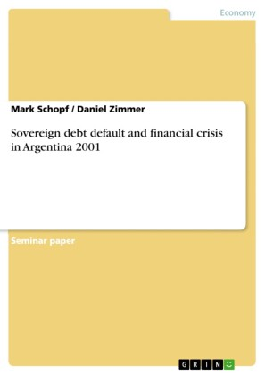 Sovereign debt default and financial crisis in Argentina 2001