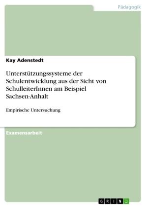 Unterstützungssysteme der Schulentwicklung aus der Sicht von SchulleiterInnen am Beispiel Sachsen-Anhalt