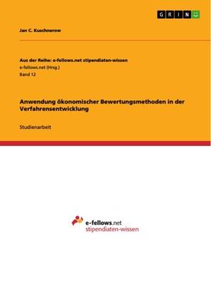 Anwendung ökonomischer Bewertungsmethoden in der Verfahrensentwicklung