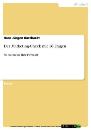 Der Marketing-Check mit 16 Fragen