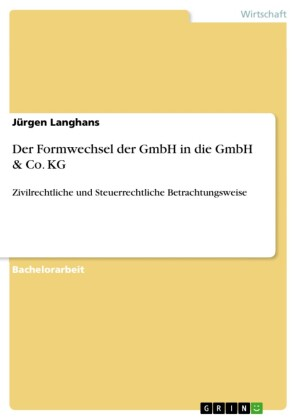 Der Formwechsel der GmbH in die GmbH & Co. KG