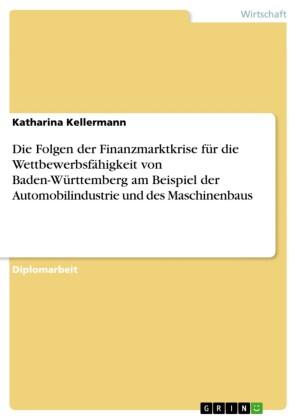 Die Folgen der Finanzmarktkrise für die Wettbewerbsfähigkeit von Baden-Württemberg am Beispiel der Automobilindustrie und des Maschinenbaus