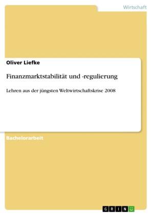 Finanzmarktstabilität und -regulierung