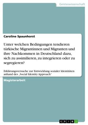 Unter welchen Bedingungen tendieren türkische Migrantinnen und Migranten und ihre Nachkommen in Deutschland dazu, sich zu assimilieren, zu integrieren oder zu segregieren?