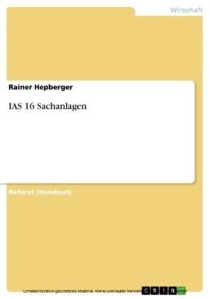 IAS 16 Sachanlagen