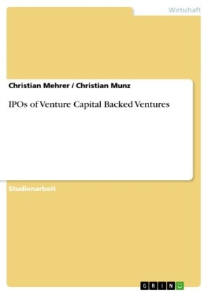 IPOs of Venture Capital Backed Ventures