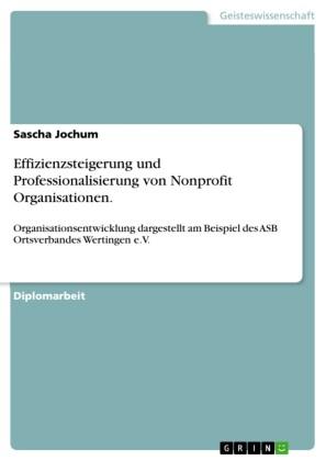 Effizienzsteigerung und Professionalisierung von Nonprofit Organisationen.