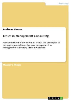 Ethics in Management Consulting