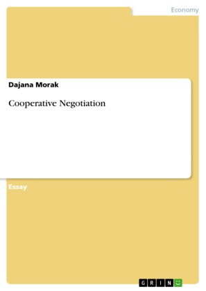 Cooperative Negotiation