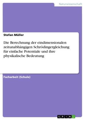 Die Berechnung der eindimensionalen zeitunabhängigen Schrödingergleichung für einfache Potentiale und ihre physikalische Bedeutung