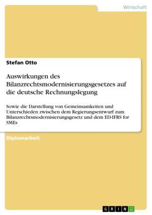 Auswirkungen des Bilanzrechtsmodernisierungsgesetzes auf die deutsche Rechnungslegung