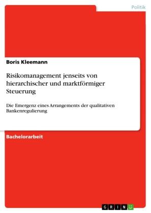 Risikomanagement jenseits von hierarchischer und marktförmiger Steuerung