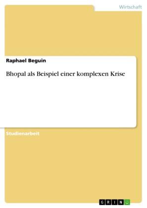 Bhopal als Beispiel einer komplexen Krise