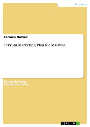 Tekrum Marketing Plan for Malaysia