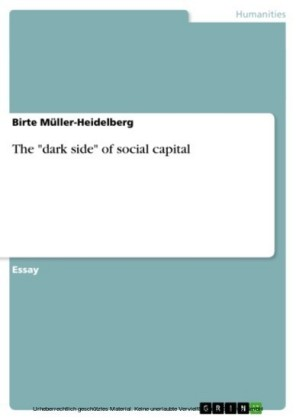 The 'dark side' of social capital