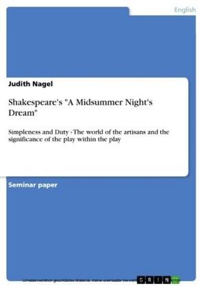 Shakespeare's 'A Midsummer Night's Dream'