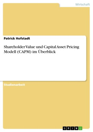 Shareholder Value und Capital Asset Pricing Modell (CAPM) im Überblick