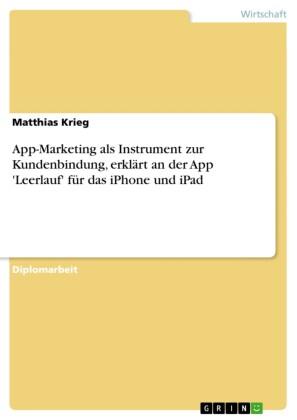 App-Marketing als Instrument zur Kundenbindung, erklärt an der App 'Leerlauf' für das iPhone und iPad