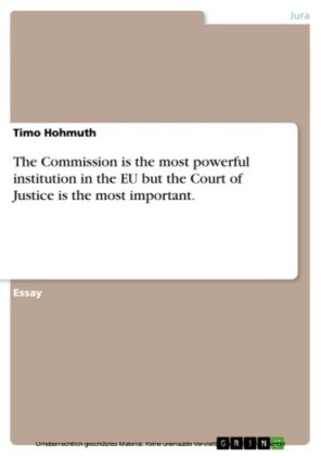 The Commission is the most powerful institution in the EU but the Court of Justice is the most important.