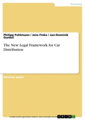 The New Legal Framework for Car Distribution