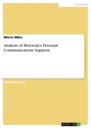 Analysis of Motorola's Personal Communications Segment