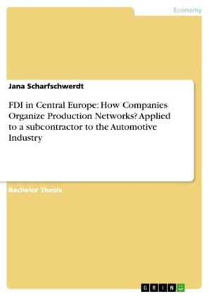 FDI in Central Europe: How Companies Organize Production Networks? Applied to a subcontractor to the Automotive Industry