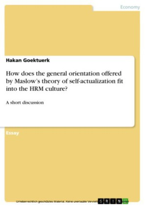 How does the general orientation offered by Maslow's theory of self-actualization fit into the HRM culture?
