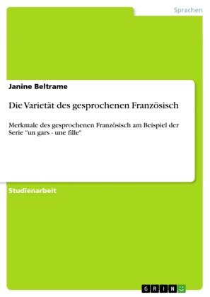 Die Varietät des gesprochenen Französisch