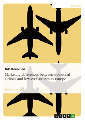 Marketing differences between traditional airlines and low-cost airlines in Europe