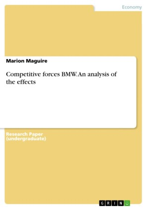 Competitive forces BMW. An analysis of the effects