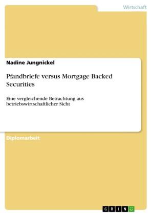 Pfandbriefe versus Mortgage Backed Securities