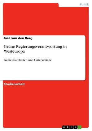 Grüne Regierungsverantwortung in Westeuropa