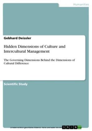 Hidden Dimensions of Culture and Intercultural Management