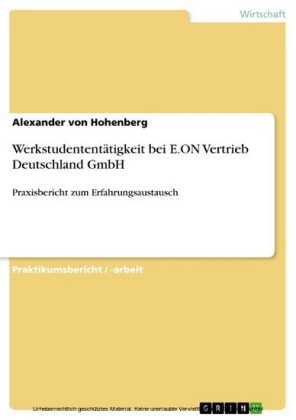 Werkstudententätigkeit bei E.ON Vertrieb Deutschland GmbH