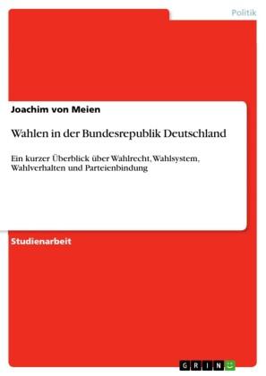 Wahlen in der Bundesrepublik Deutschland