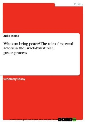 Who can bring peace? The role of external actors in the Israeli-Palestinian peace-process