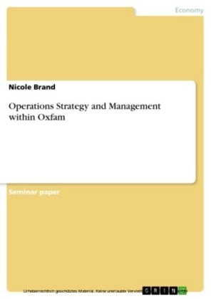 Operations Strategy and Management within Oxfam