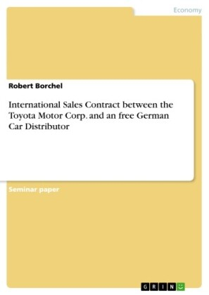 International Sales Contract between the Toyota Motor Corp. and an free German Car Distributor