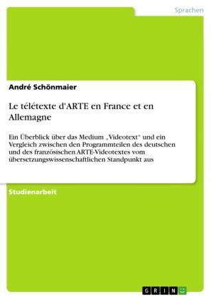 Le télétexte d'ARTE en France et en Allemagne