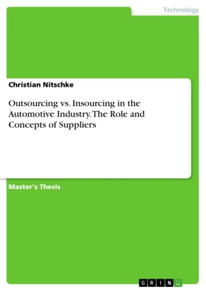 Outsourcing vs. Insourcing in the Automotive Industry. The Role and Concepts of Suppliers