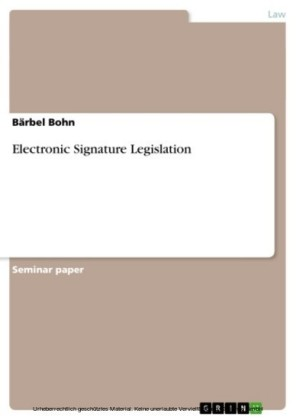 Electronic Signature Legislation