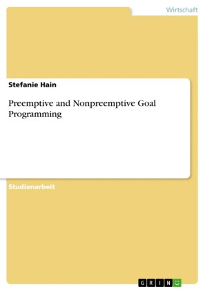 Preemptive and Nonpreemptive Goal Programming