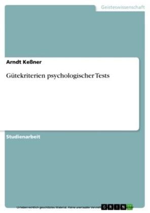Gütekriterien psychologischer Tests