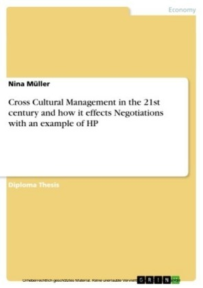 Cross Cultural Management in the 21st century and how it effects Negotiations with an example of HP