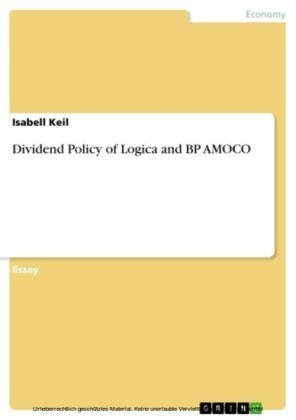 Dividend Policy of Logica and BP AMOCO