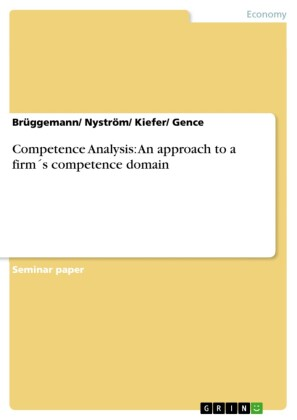 Competence Analysis: An approach to a firm's competence domain