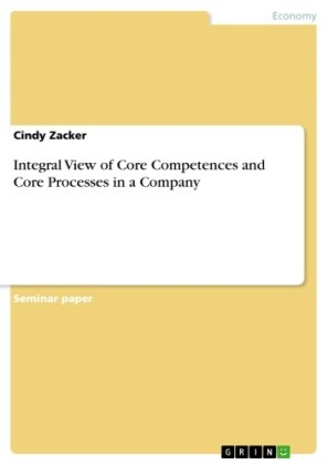 Integral View of Core Competences and Core Processes in a Company