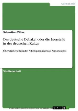 Das deutsche Debakel oder die Leerstelle in der deutschen Kultur